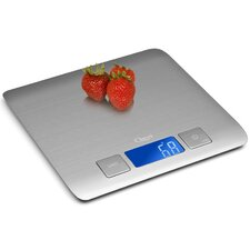 Zenith Digital Kitchen Scale, in Refined Stainless Steel with Fingerprint Resistant Coating