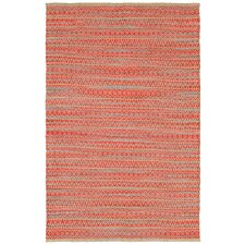 Natural Fiber Red Area Rug