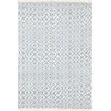 Fair Isle Hand Woven Blue/White Area Rug