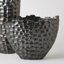 Random Grid Short Vase
