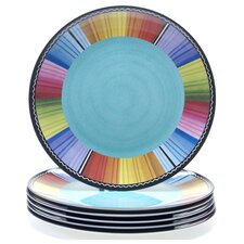 "Serape Melamine 11"" Dinner Plate (Set of 6)"