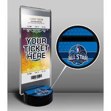 2014 NBA All-Star Game New Orleans Pelicans Ticket Display Stand