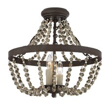 Mallory 3-Light Convertible Semi-Flush Mount