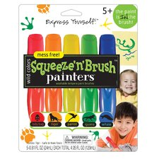 Wild Colors Squeeze N Brush Painters Paint Brush
