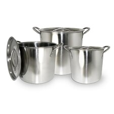 6 Piece Stock Pot Set