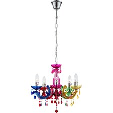 Lincoln 5 Light Candle-Style Chandelier