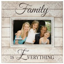 4 x 6 family is everything sunwashed wood picture frame