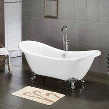 """68.62"""" x 28.5"""" Claw Foot Slipper  Bathtub"""
