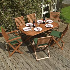 Plumley 6 Seater Dining Set with Cushions