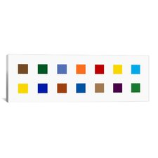 Modern Colorful Squares Graphic Art on Canvas