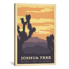 'Joshua Tree National Park, California' by Anderson Design Group Vintage Advertisement on Canvas
