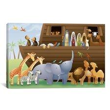 Kids Children Noah's Ark Canvas Wall Art