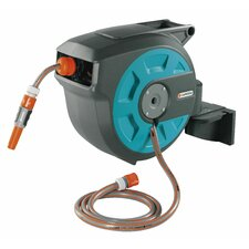 Plastic Wall-Mounted Hose Reel with Automatic Rewind
