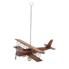 Contemporary Styled Wood Airplane Sculpture