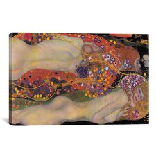 'Water Serpents II 1907' by Gustav Klimt Painting Print on Wrapped Canvas