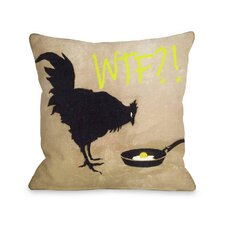 Chicken and Egg WTF Throw Pillow