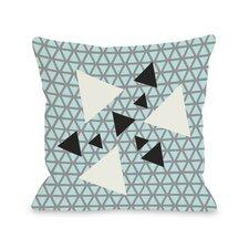 Natasha Geometric Triangles Throw Pillow