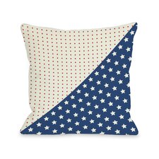 Polka Dots and Stars Throw Pillow