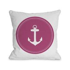 Polka Dot Anchor Throw Pillow