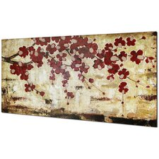 Red Blossom by Tina O. Painting on Wrapped Canvas