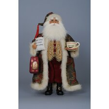 Christmas Coffee Santa Figurine