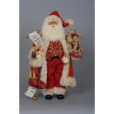 Christmas Toy Stocking Santa Figurine