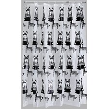 Zebra PEVA Shower Curtain