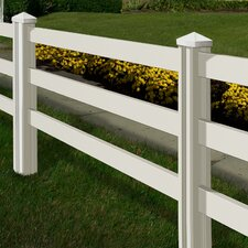Traditional 4' x 14' Ranch Rail Fence