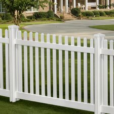 Traditional 4' x 7' Classic Picket Fence