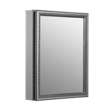 """20"""" x 26"""" Aluminum Mirrored Medicine Cabinet"""