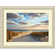 sunset beach by daniel pollera framed photographic print