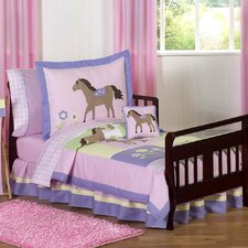 Pony 5 Piece Toddler Bedding Set