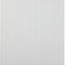 Vibrance 33.1cm x 33.1cm Ceramic Fabric Look/Field Tile in White