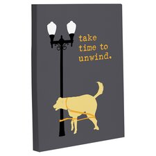 Doggy Decor Unwind Dog Graphic Art on Wrapped Canvas