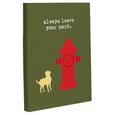 Doggy Decor Leave Your Mark Graphic Art on Wrapped Canvas