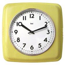 "Cubist Retro Modern 9.4"" Wall Clock"