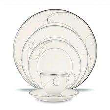 Platinum Wave 20 Piece Dinnerware Set, Service for 4