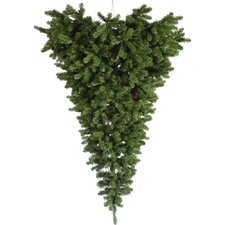 American Upside Down Half 6' Green Artificial Christmas Tree
