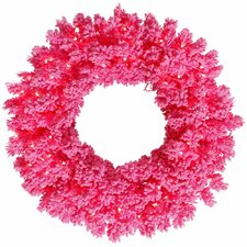 Flocked Fir Wreath