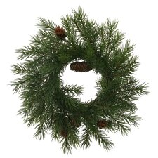 "Angel Pine Cone 9"" Wreath"