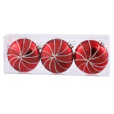 Assorted Shape Flat Ball Christmas Ornament (Set of 3)