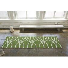 Ribbon Green/White Area Rug