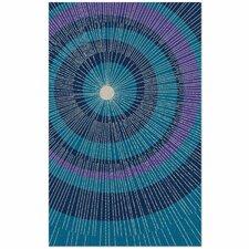 Eccentric Hand-Tufted Blue Area Rug