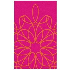 Ribbon Pink/Persimmon Area Rug