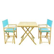 Bamboo 3 Piece Outdoor Dining Set