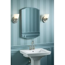"Archer 20"" x 31"" Aluminum Wall Mount Medicine Cabinet with Mirrored Door"
