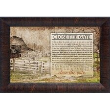 Close The Gate by Brett West Framed Graphic Art