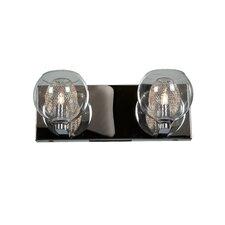 Wrangell 2-Light Clear Glass Vanity Light