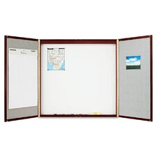 Conference Room Enclosed Cabinet Whiteboard, 4' H x 4' W