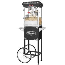 8 oz. All-Star Popcorn Popper Machine and Cart